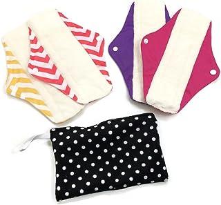 2 Maxi & 2 Regular Reusable Bamboo Mama Cloths Menstrual Pads Travel Bag Pack