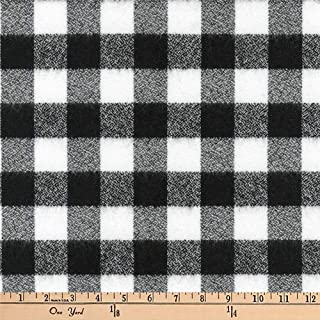 black and white flannel fabric
