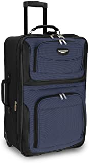 Traveler's Choice Amsterdam 25-inch Expandable Rolling Upright, Navy (Blue) - TS6950N25