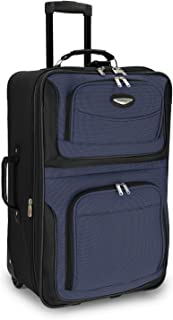 """Amsterdam 25"""" Expandable Rolling Upright Luggage, Navy"""