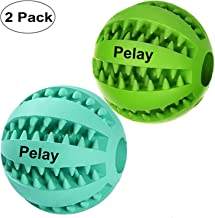 Pelay Dog Ball Toys for Pet Tooth Cleaning/Chewing/Playing,IQ Treat Ball Food Dispensing..