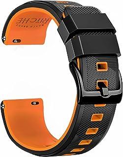 بند ساعت مچی سیلیکونی Ritche 18mm 20mm 22mm بندهای ساعت لاستیکی برای مردان زنانه