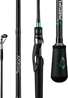 Piscifun Serpent One Piece Spinning Rod, IM7 Carbon Blank, Fuji O-Ring Guides, Golf Style Grips Spinning Fishing Rods