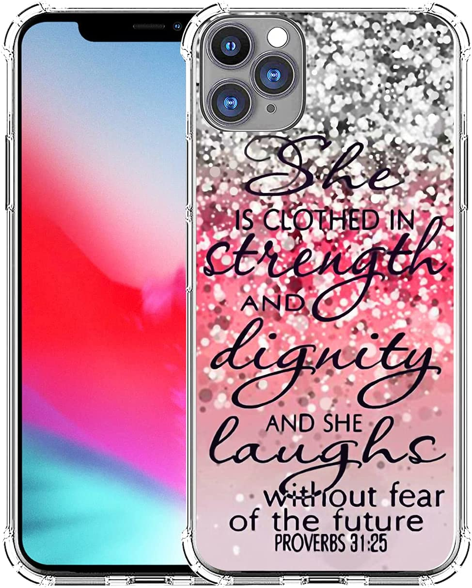 Case for iPhone 13 Pro Max & MUQR Gel Silicone Slim Drop Proof Protection Cover Compatible with iPhone 13 Pro Max & Silicone Christian Rubber Protective Bible Songs Lyrics