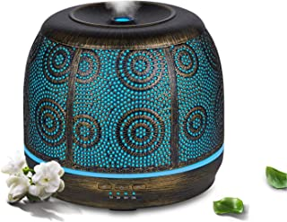 Robust Essential oil diffuser Air humidifier, 500ml Ultrasonic Aromatherapy diffuser with Metal Brass Body, Aroma diffuser...