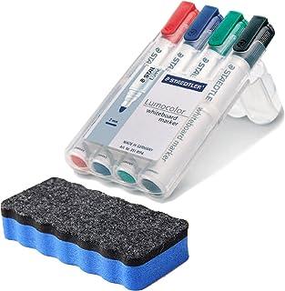 Staedtler 351 WP4 Lumocolor markery do tablic suchościeralnych, 4 sztuki w pudełku Staedtler, posortowane pod względem kol...
