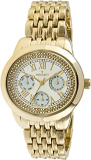 7089G Women's Crystal Accent Gold-Tone Multifunction Watch