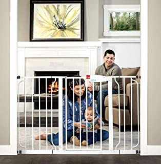 Regalo Easy Step 49-Inch Extra Wide Baby Gate, Includes 4-Inch and 12-Inch Extension Kit, 4 Pack of Pressure Mount Kit and...