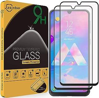 Jasinber 2-Pack Mica Vidrio Cristal Templado Protector de Pantalla para Samsung Galaxy M30 (Negro)