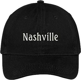 Nashville City Embroidered Low Profile 100% Cotton Adjustable Cap