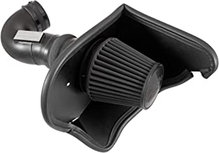 K&N Cold Air Intake Kit with Washable Air Filter: 2016-2019 Chevy Camaro SS, 6.2L V8, Blackhawk Finish w/dry black filter, 71-3092