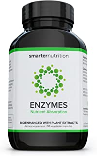 Smarter Enzymes - Nutrient Absorption Aid & Daily Multi-Digestive Aids with 16 Natural Enzymes | Fights Bloating, Maximizes Energy, and Improves Immunity (90 Count - 1 Month Supply)