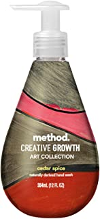 Method Creative Growth Art Collection Naturally Derived Hand Wash, 12 Fl. Oz., Cedar Spice