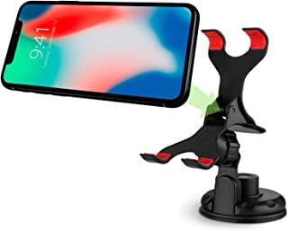 Vena Car Mount, Clip-Grip 360 Degree Strong Suction Cup Car Mount Holder for iPhone 11/11 Pro/11Pro Max/XR/XS/Max X, Galaxy S10 Plus/S9/S8/Plus, Moto G5 Plus, Google Pixel 3/3 XL (Up to 90mm Wide)