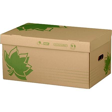 Fast Nature Line Caisse à Documents en Carton 52 x 35 x 26cm Ecru
