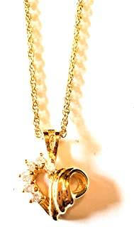 Gold Plated Chain Necklace With Heart Pendant With Gift Box