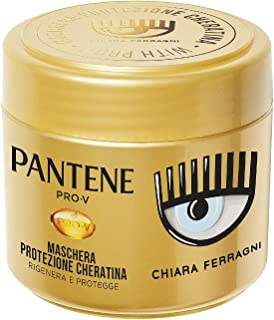 Pantene Pro-V by Chiara Ferragni Maschera Protezione Cheratina Rigenera E Protegge Per Capelli Deboli e Danneggiati, Edizi...