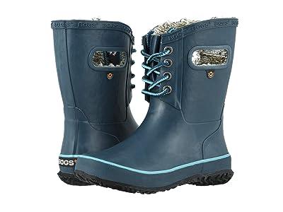 Bogs Kids Amanda Plush Lace (Toddler/Little Kid/Big Kid) (Legion Blue) Girls Shoes