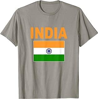 India Flag T-Shirt Cool Indian Tiranga Flags Gift Top Tee