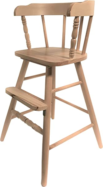 Junior Solid Wood Youth Chair Clear Coated