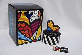 Romero Britto Round Trinket Box - Heart -