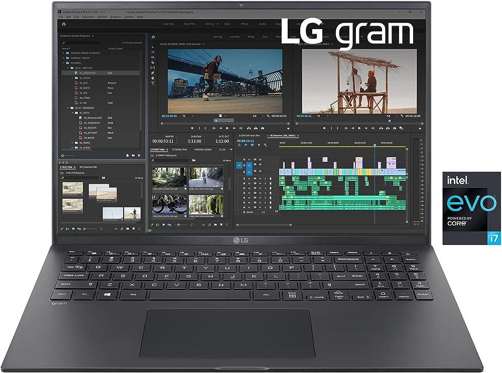 Lg pc portatile quad hd 16:10 ips intel core i7-1165g7 ram 16gb ddr4 ssd 512gb intel iris xe thunderbolt4 LG Gram 16Z90P