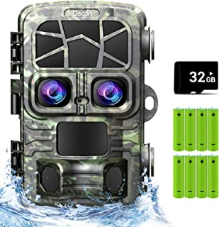 Dsoon Trail Camera, 20MP 4K Hunting Camera Dual Lens with...