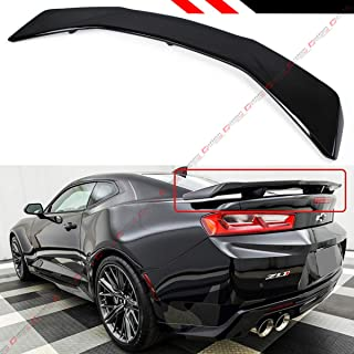 Cuztom Tuning Fits for 2016-2018 Chevrolet Camaro LT SS RS Painted Glossy Black Big ZL1 Style Trunk Lid Spoiler Wing