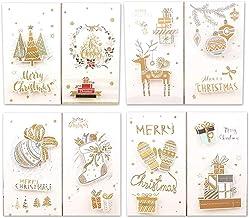 Jgzwlkj Julkort 8 st tecknade tackkort julkuvert gratulationskort student kreativ bekännelse meddelande inbjudan födelseda...