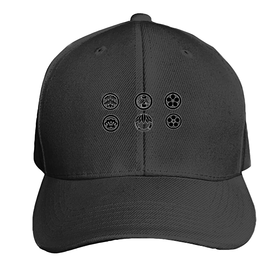 Illustrtion with Deer Printed Sandwich Baseball Cap for Unisex Adjustable Hat