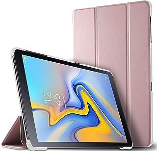 Estuche para tableta Luibor Samsung Galaxy Tab A 10.5 2018 SM-T590/SM-T595 - Estuche para cubierta elegante y delgado Estuche de piel ultra ligero para tableta Samsung Galaxy Tab A 10.5 2018 SM-T590/SM-T595 (Oro Rosa)