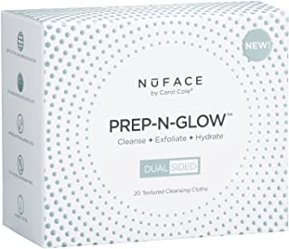 NuFACE Prep-N-Glow Cloths, Cleansing, Exfoliating, and Hydrating Wipes ,Enriched with Hyaluronic Acid