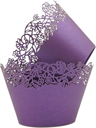 Amazon.com: purple cupcake wrappers - Kitchen Utensils ...