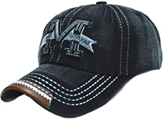 morefaz Unisex Baumwolle Baseball Cap M Jeans Sport Mütze Baseballkappe Snap Back Trucker MFAZ Ltd