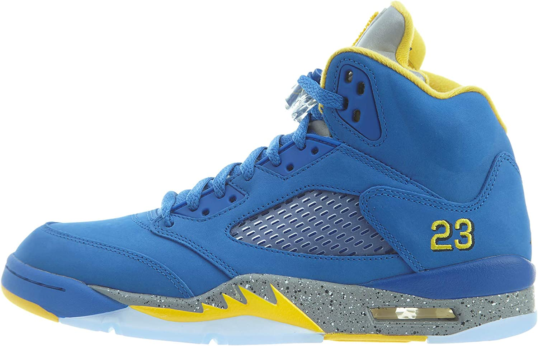 Jordan Nike Mens Air 5 Retro Laney Leather Basketball shoes (10)