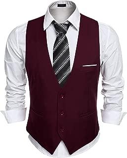 COOFANDY Men's Slim Fit Suit Vest Business Wedding Waistcoat