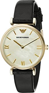 Emporio Armani Classic Women's Leather Band Watch