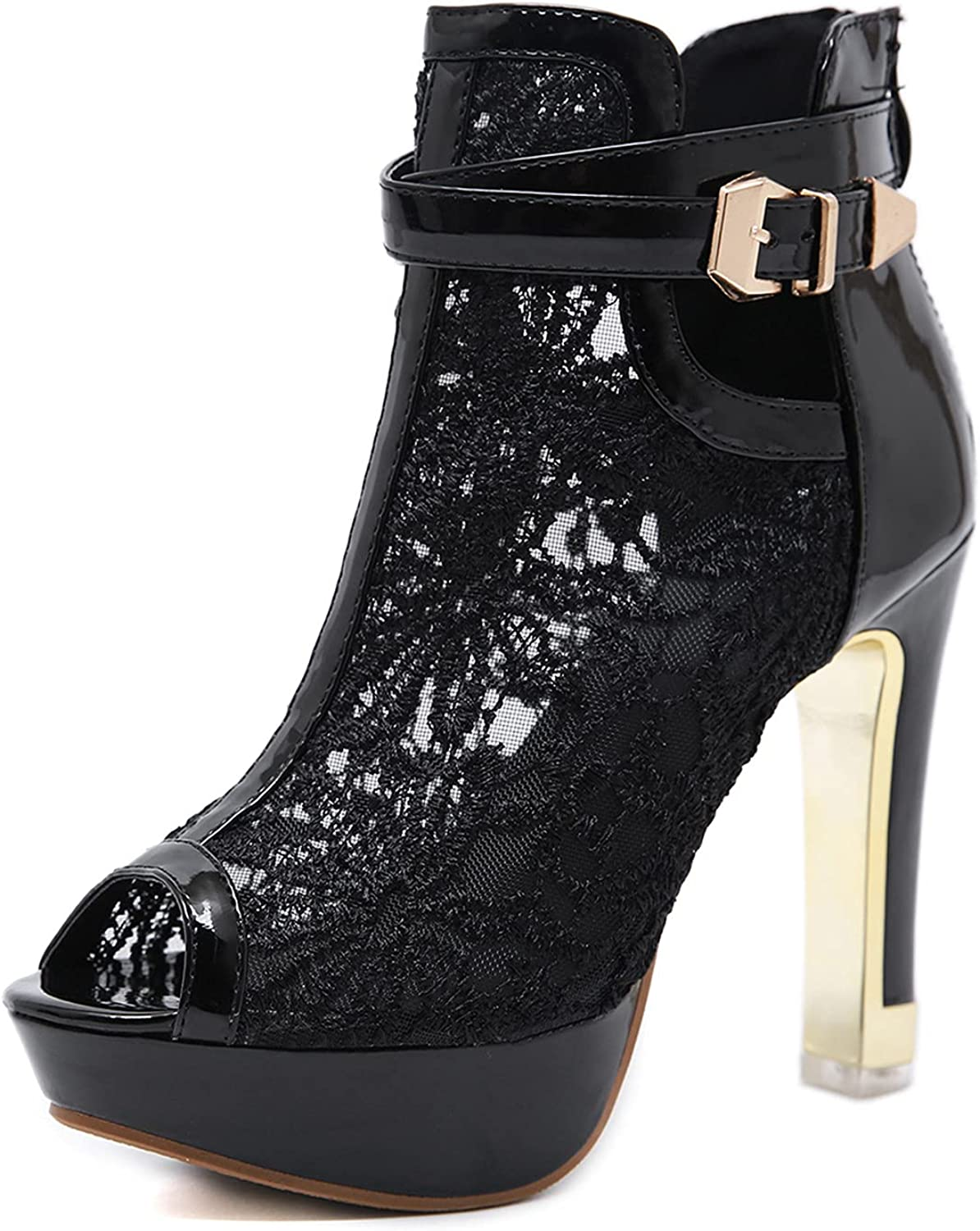 Gyouanime Special sale item high Heels Sexy Women with Toe peep Ankle 5 popular Buckle lace