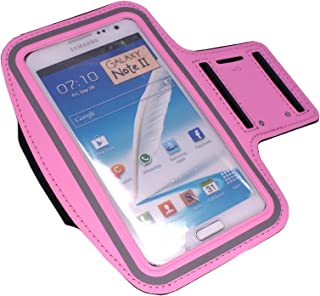 Armband Case Cover for Gym Sport Running Workout Sweat-Resistant for iPhone 6, 6S, and Similar Sized Mobile Phone by CyberTech (Color: Pink)