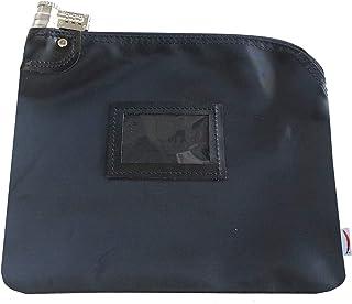 Locking Bank Bag Laminated Nylon Combination Keyed Security System (Navy Blue)
