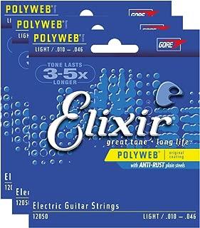 3 Sets of Elixir 12050 Polyweb Light Electric Strings (10-46)