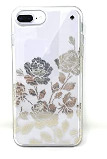 Kate Spade New York Rose Symphony Hardshell Case for iPhone 8 Plus/iPhone 7 Plus/iPhone 6 Plus, Gold/Clear