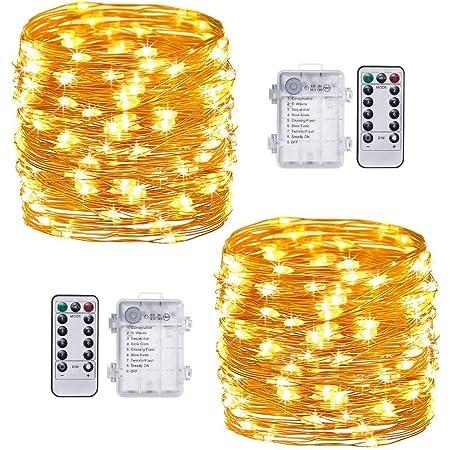Battery Operated String Fairy Lights 20-100 LED 3xAA Powered Christmas Wedding