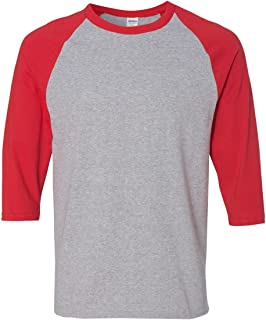By Gildan Gildan Adult Heavy Cotton 53 Oz, 3/4 Raglan Sleeve T-Shirt - White/Black - S - (Style # G570 - Original Label)