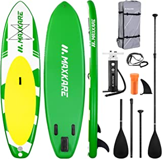 MaxKare Paddle Board Inflatable Paddle Board SUP W Stand-up Paddle Board Accessories Backpack Paddle Leash Pump Non-Slip D...