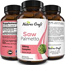 Saw Palmetto Capsules for Hair Loss - Saw Palmetto for Women and Men Hair Vitamins for Faster Hair Growth and Healthy Hair...