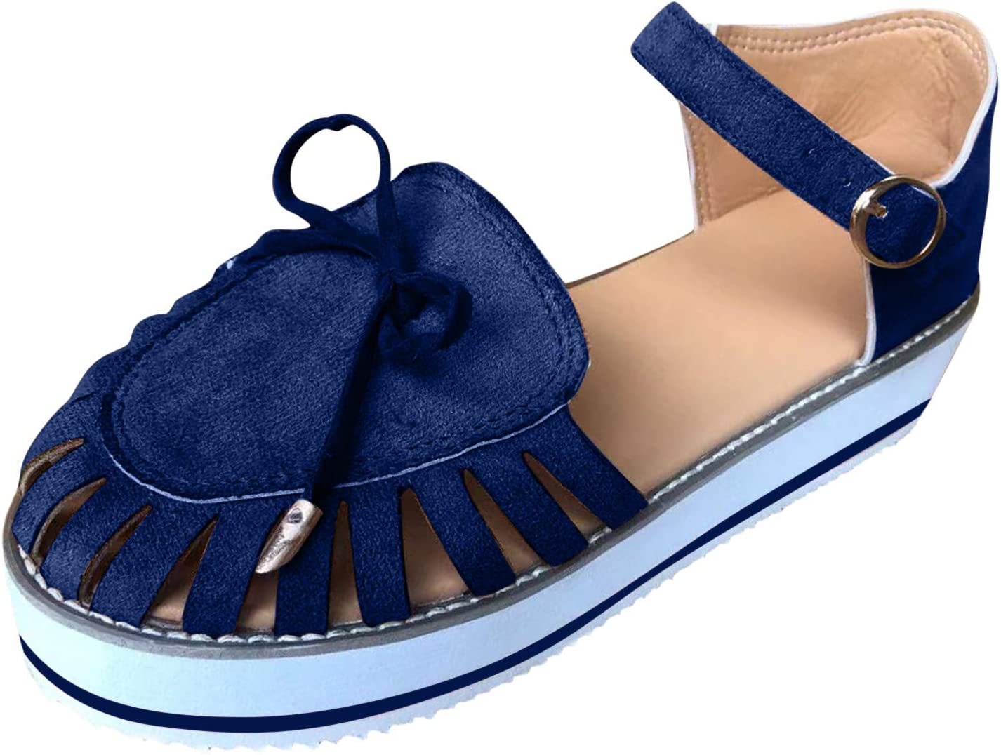 PLENTOP Womens Espadrille Platform Elastic Max 61% OFF Strappy We Closed 2021 autumn and winter new Toe