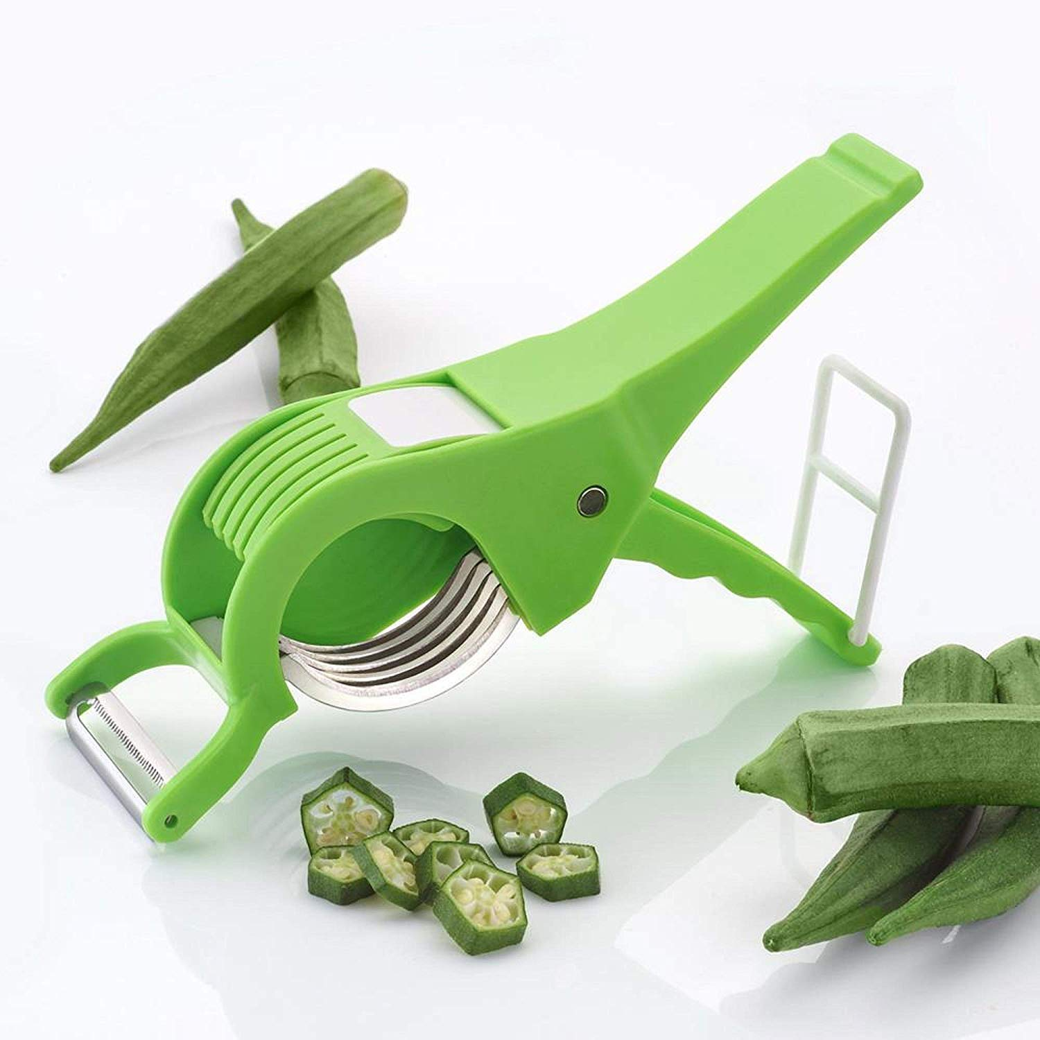 GOODNESS INTERNATIONAL Plastic Multi Cutter with Peeler for Vegetable and Fruits