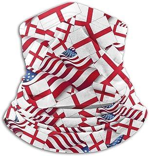 JFK BORN England Flag with America Flag Unisex Seamless Bandana Neck Gaiter Tube Mask Headwear, Motorcycle Face Mask for Women Men Face Scarf