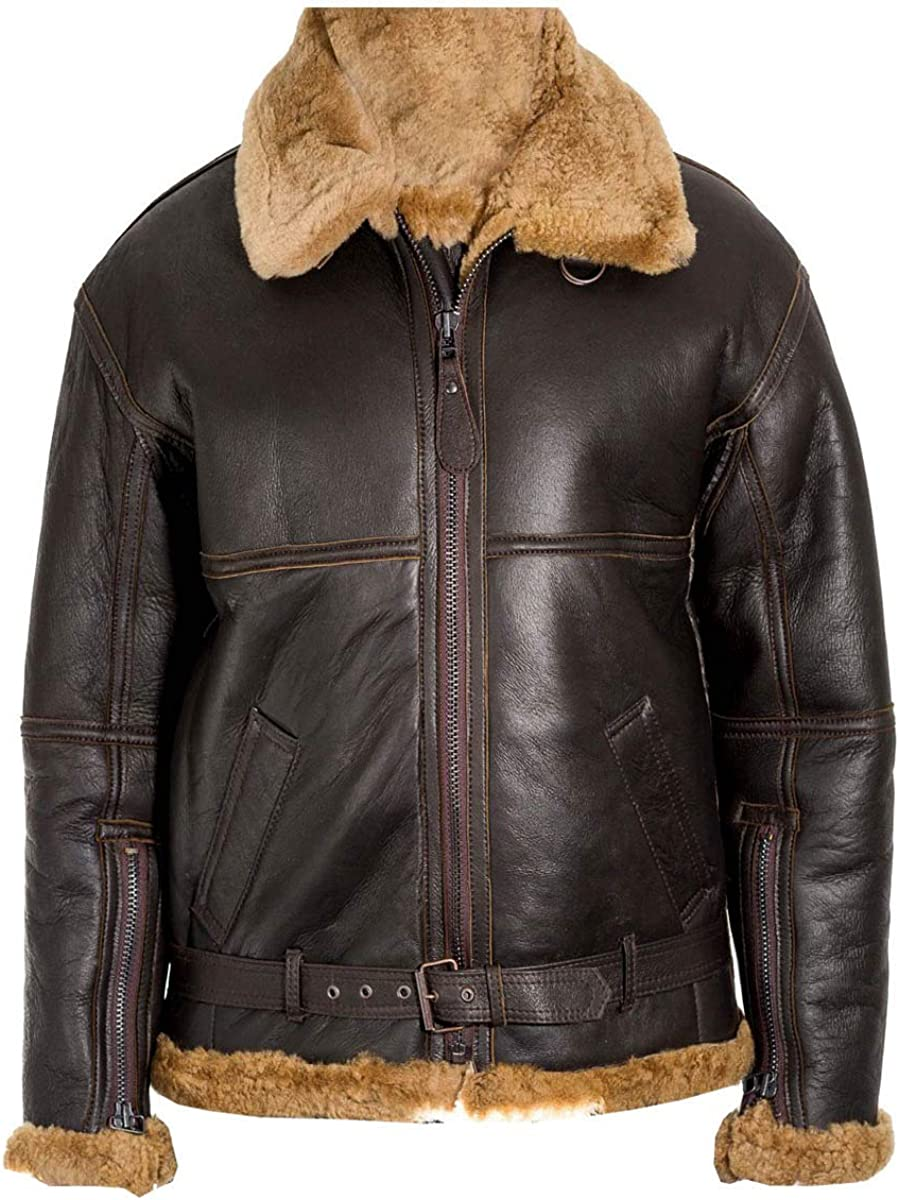 Takitop Rawo Shearling Brown Designer Real Leather Jacket for Men